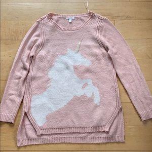 Pink unicorn sweater